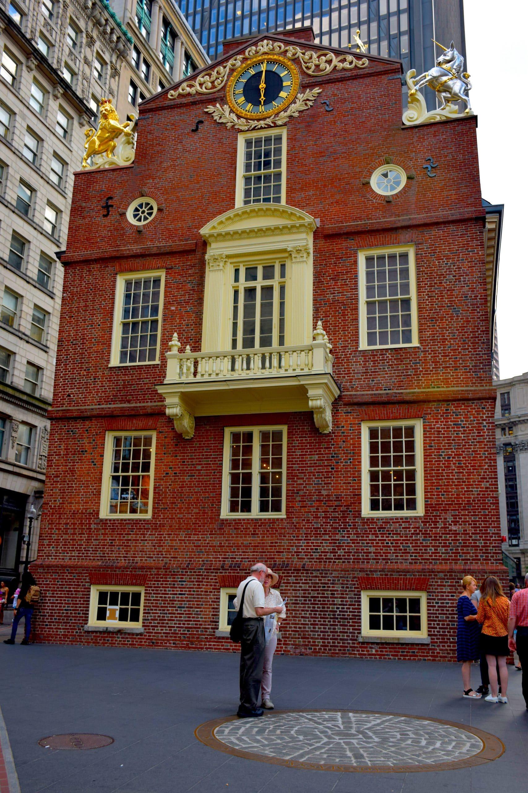 Boston State House and Massacre Marker